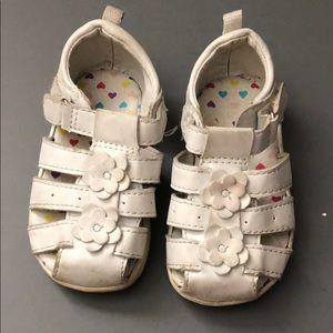 Healthtex 5 white sandals